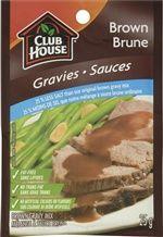 Club House 25% Less Salt Brown Gravy Mix @DinnerByDesign