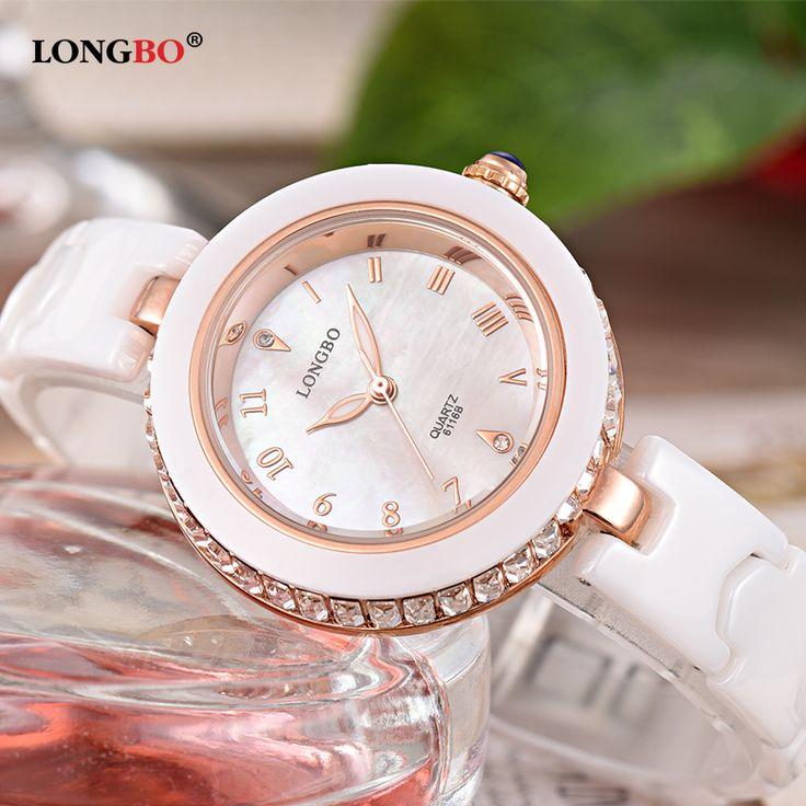 Luxury Watches Women Ceramic Bracelet Mother Pearl Crystal Dial Waterproof Quartz Wristwatches Female Clock montre femme 6116