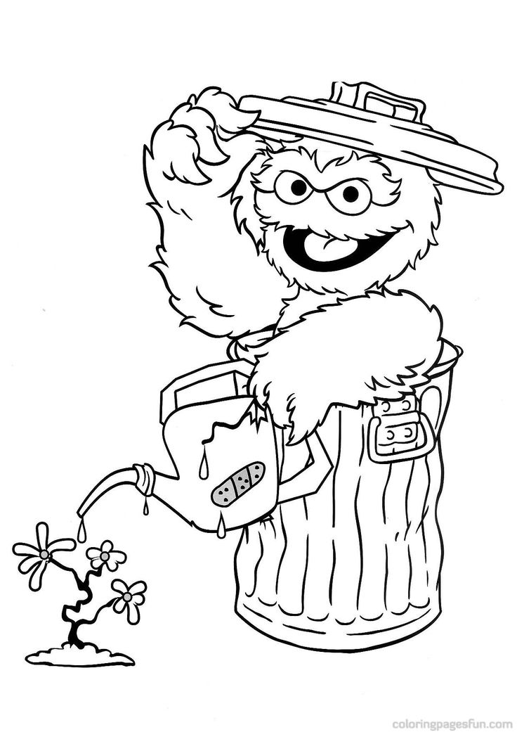oscar the grouch coloring pages | 20 best Coloring Pages - Sesame Street images on Pinterest ...