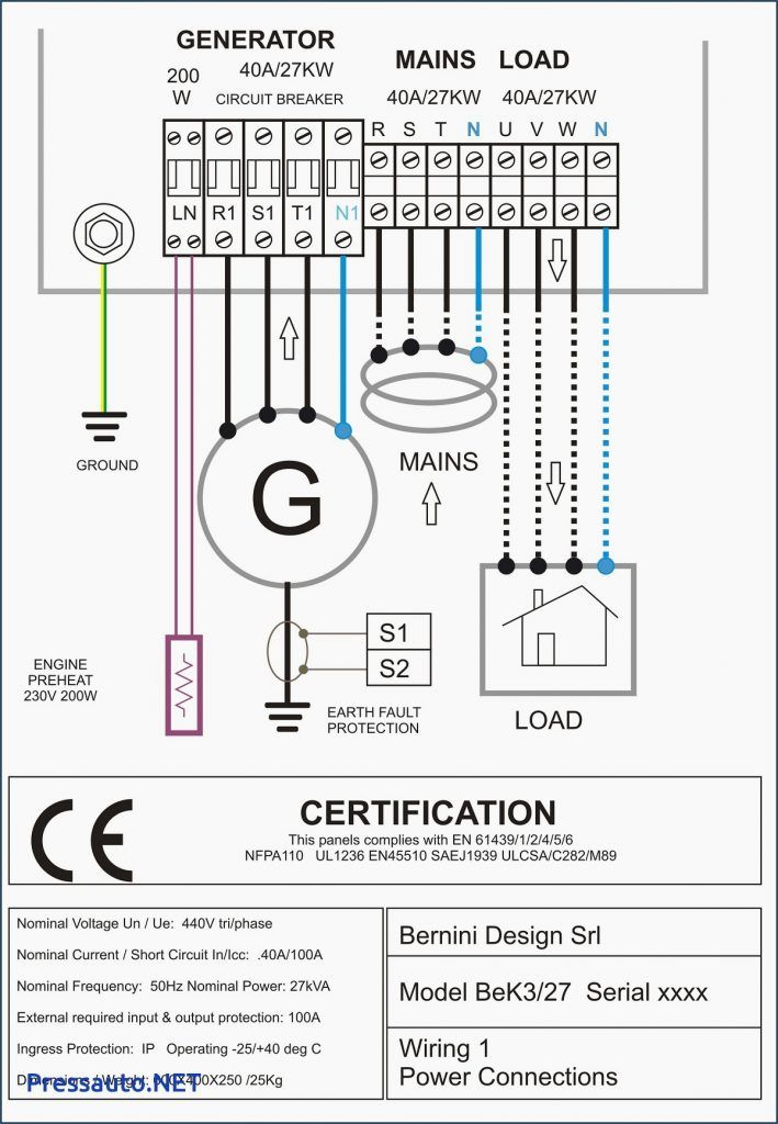 electrical wiring ats panel wiring diagram pdf 4 pole contactor of rh pinterest com hager 4 pole contactor wiring diagram Definite Purpose Contactor Wiring Diagram