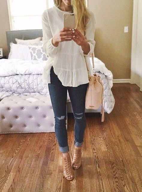 Clothes outfit for woman * teens * dates * stylish * casual * fall * spring * wi…