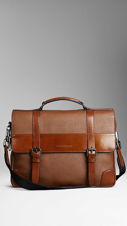 London Leather Briefcase   Burberry