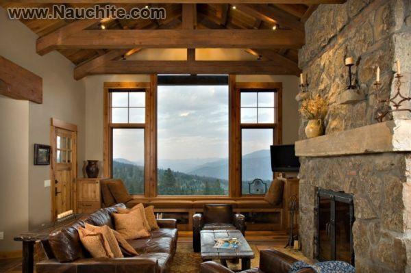 Каменный камин станет главным акцентом интерьере любой комнаты