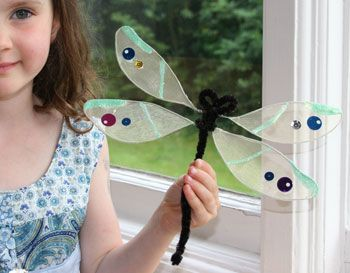 Summertime Dragonflies (easy craft)