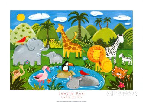 [H] Les animaux de la jungle, Harding Sophie