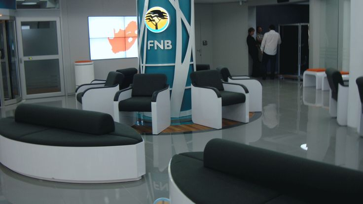 FNB - retail branch interior design, banking office space.