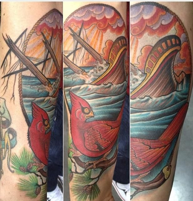 17 best images about tattoos on pinterest foxes ponies for Sinking ship tattoo