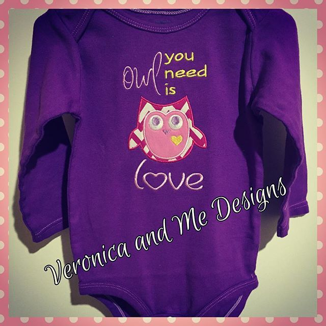 Owl you need is love!! Very special gift for a gorgeous little 1 year old birthday girl!  #veronicaandmedesigns #veronicaandme #customisedembroidery #nzmade #madeinnz #applique #networknz #nnzmo  #nzembroidery #embroiderydigitizing #oneofakind  #owlapplique #babygirl #veronicaandmecustomdigitizing