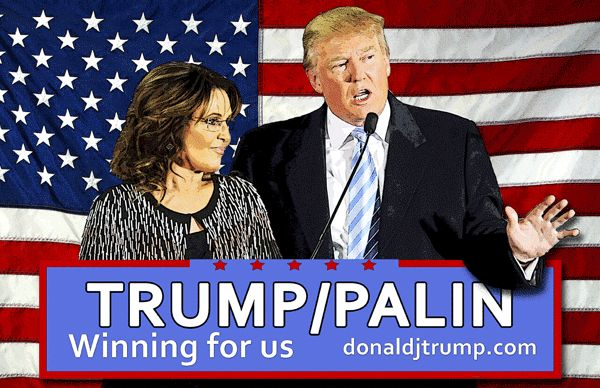Trump Palin winning for us