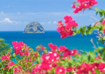 Martinique, Diamond Rock. <3