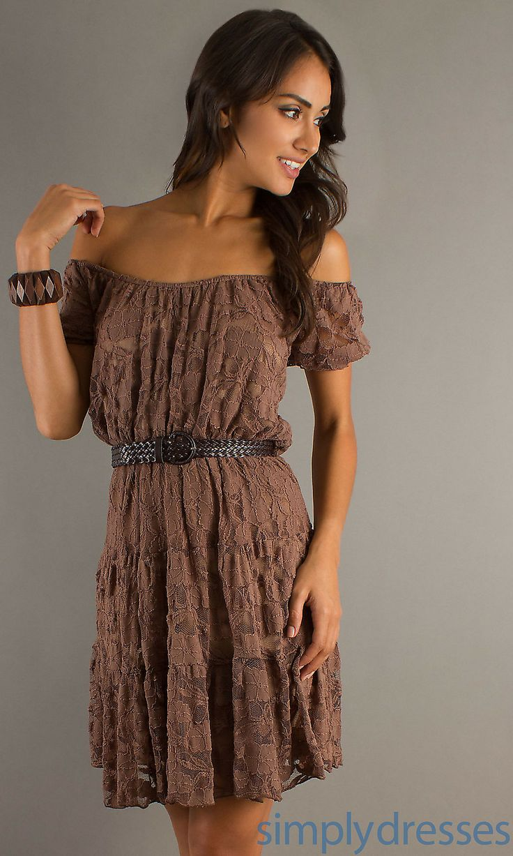 18 best images about lace dresses on pinterest brown for Brown lace wedding dress