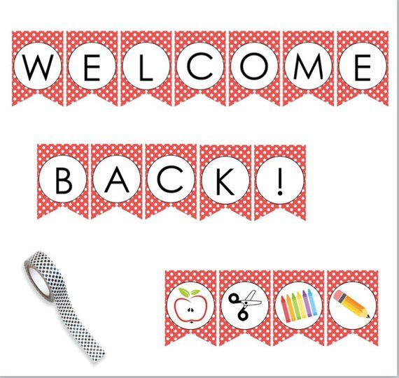 Welcome Back To School Printable Banner Sign Perfect For Teacher