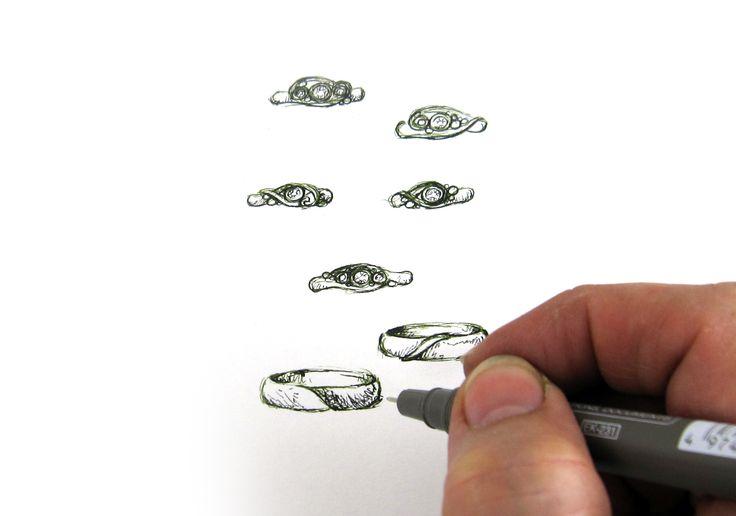 Drawing bespoke wedding rings