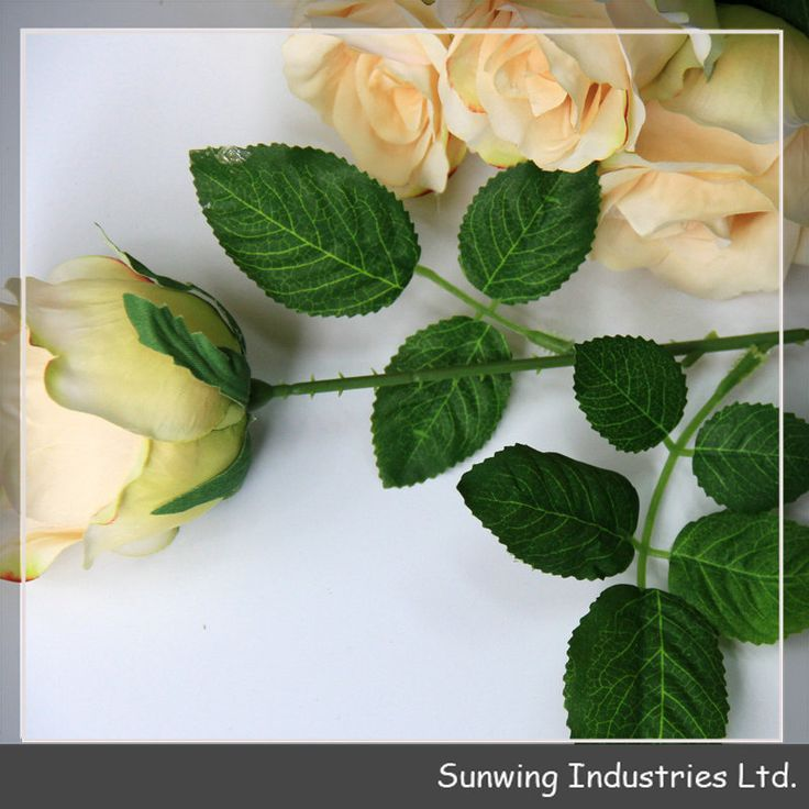 Wholesale Yellow Silk Artificial Flowers for Wedding Decoration