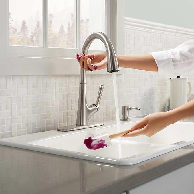 Kohler Malleco Touchless Pull Down Kitchen Faucet With Soap Dispenser Kitchen Faucet Touchless Kitchen Faucet Faucet
