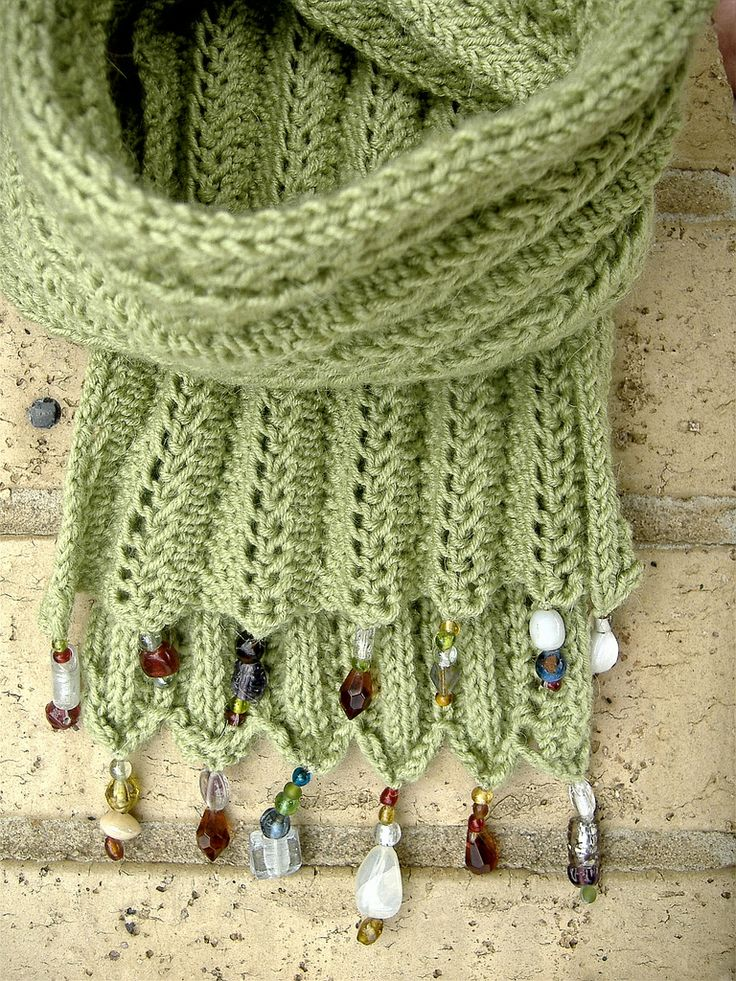 Alpaca scarf with glass beads. laughingpurplegoldfish on Flickr