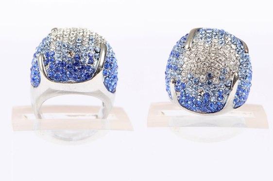 Crystal Ball Ring Blue