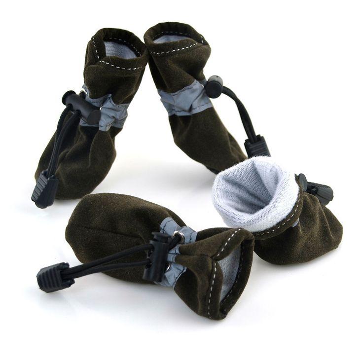 Preço de fábrica! Grande cão pequeno Pet camurça quente Anti slip Shoes gato cachorrinho sapatilhas sapatinho roupas(China (Mainland))
