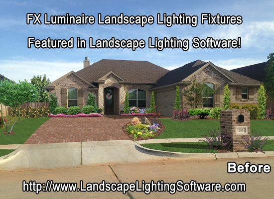 Fx Outdoor Lighting 9 best fx luminaire outdoor lighting design software images on landscape lighting design software starts with a before image of the clients property only now workwithnaturefo