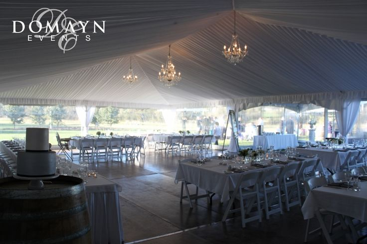 A beautifully romantic and traditional marquee wedding at Bunnamagoo Estate. For more info visit www.domaynevents.com.au
