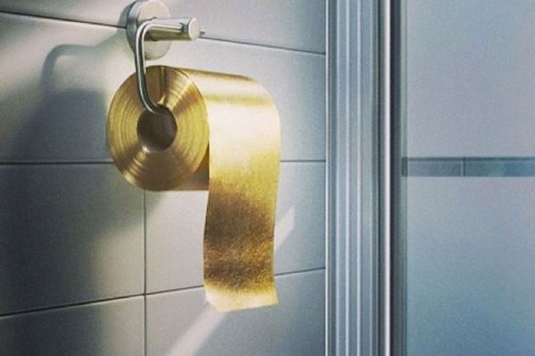 22 Carat Gold Toilet Paper Roll is the Most Expensive Disposable Item-$1.3 million! By Toilet Paper Man of Australia