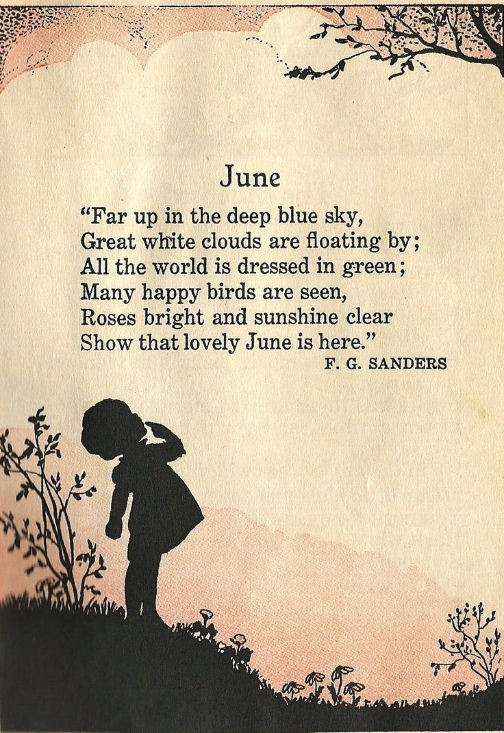 A poem to June.