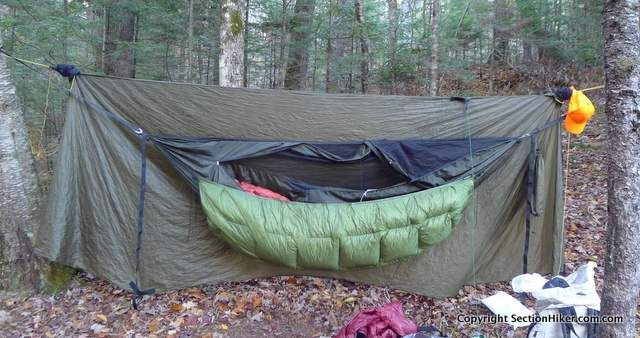 Enlightened Equipment Revolt Hammock Underquilt Review - http://sectionhiker.com/enlightened-equipment-revolt-hammock-underquilt-review/