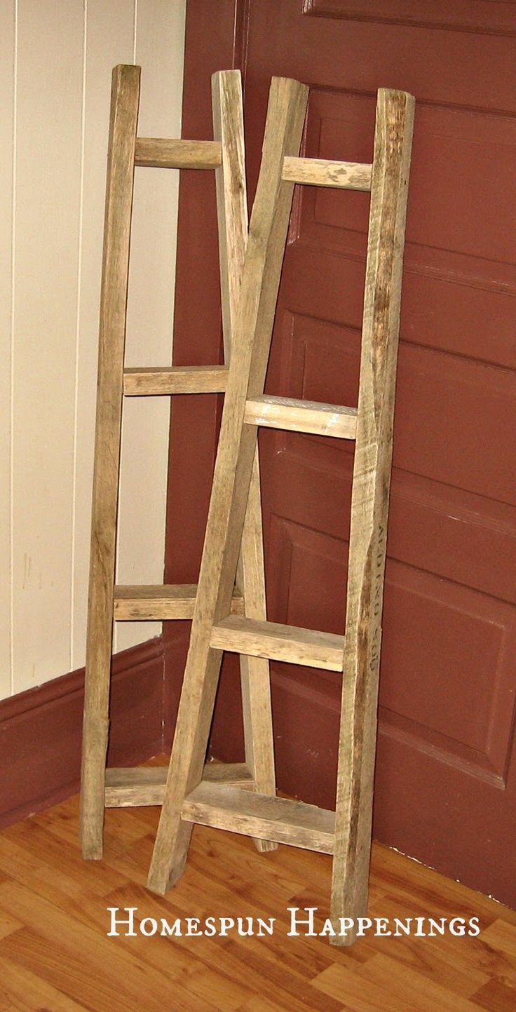 25 best ideas about quilt ladder on pinterest blanket for Old wooden ladder projects