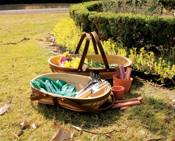 Introduce gardening to children with these traditional Cypress Timber Trugs