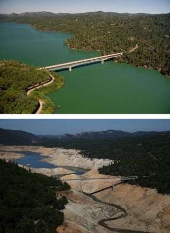 Drought in California – in pictures  As the severe drought continues for a third year, water levels in the state's lakes and reservoirs are reaching historic lows