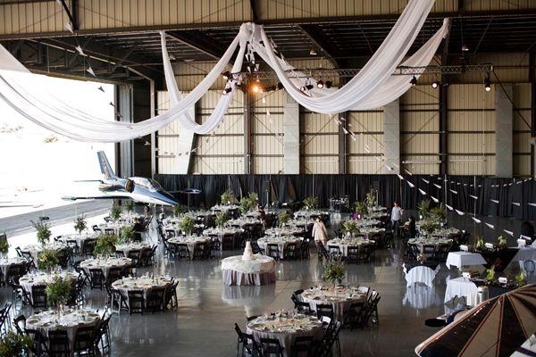 [[California Hangar Wedding // photo by Yuliya M. Photography via Ruffled - attitude hangars Livermore ca]]