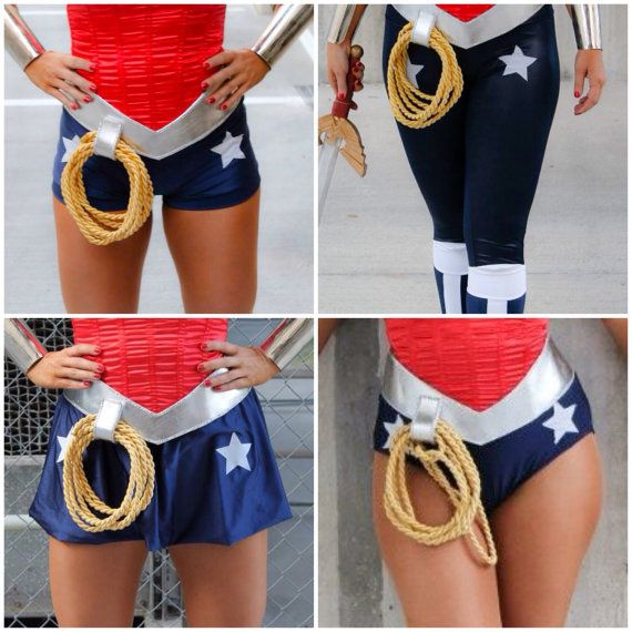 Wonder Woman Briefs Shorts Skirt Pants NAVY with white by VivaWW