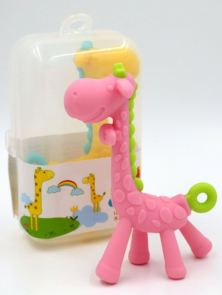 Melado Safety Silicone Giraffe Baby Teether - PINK