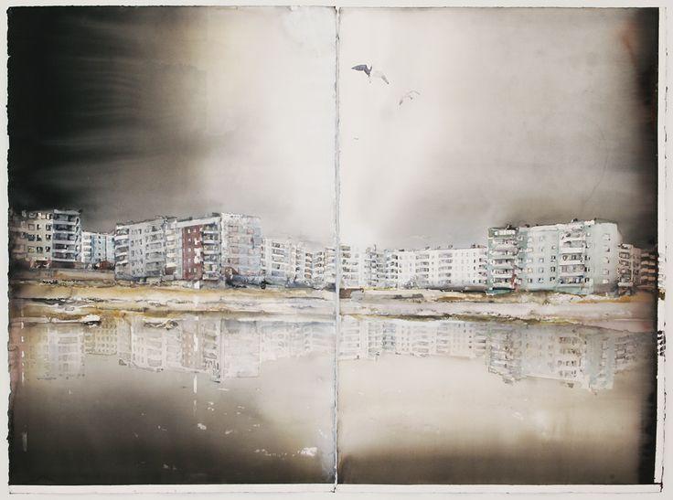 AKVARELLER I URVAL | Sandgrund Lars Lerin Konsthall