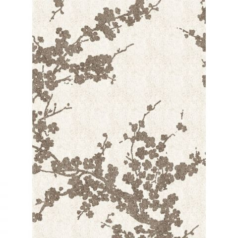 Cream And Brown Cherry Blossom Rug. Http://www.worldstores.co