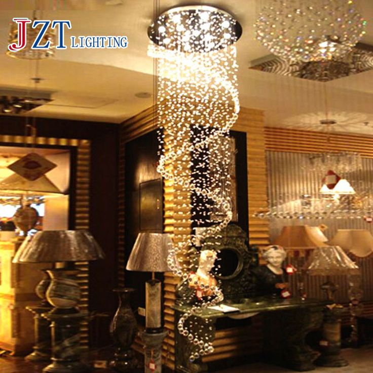 ==> [Free Shipping] Buy Best T Luxury Circular Spiral Crystal Ceiling Light GU10 LED Bulbs Modern Creative Indoor Lighting Penthouse Floor Hall Stairs Light Online with LOWEST Price | 32669417909
