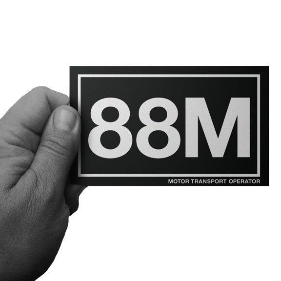 Army mos 88m motor transport operator window or bumper sticker by inkfidel