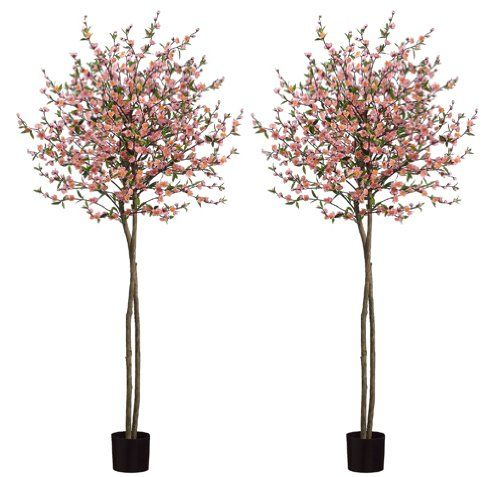 TWO 6' Cherry Blossom Tree in Pot Arcadia Silk Plantation,http://www.amazon.com/dp/B009I7CFNG/ref=cm_sw_r_pi_dp_F9Q7sb1GE5DKCGEE