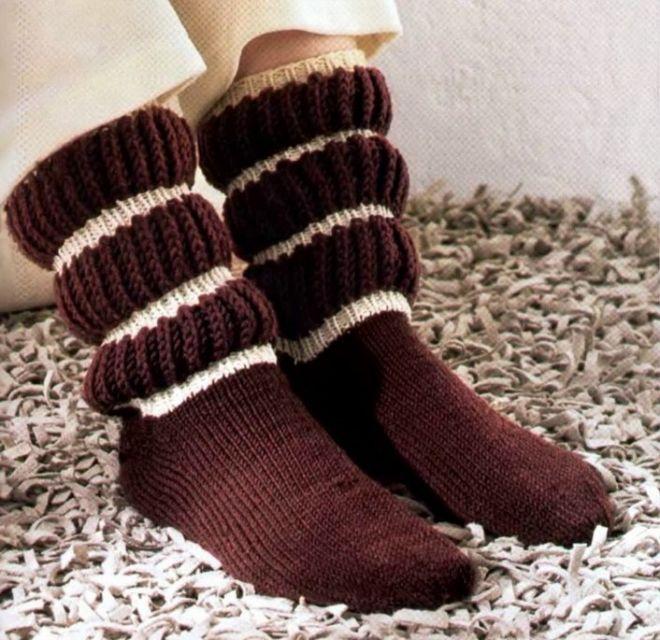 Теплые носки спицами. Как связать теплые носки спицами |