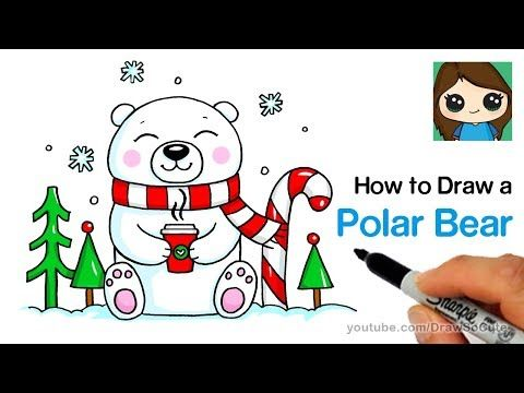 3 How To Draw A Polar Bear For Winter Holiday Easy