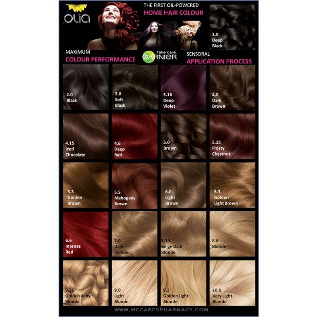 Cartes De Couleurpour Les Cheveux Couleurs De Teintures Capillaires Cheveux