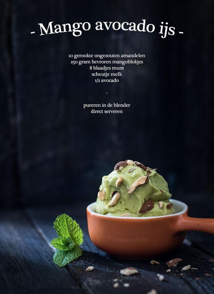 Mango avocado ijs | Hier kun je geen genoeg van krijgen!