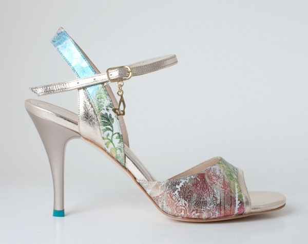 M07 Green & Gold - Turquoise Tango Shoes