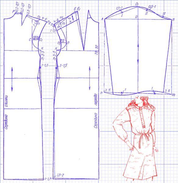 Женская рубашка в греческом стиде