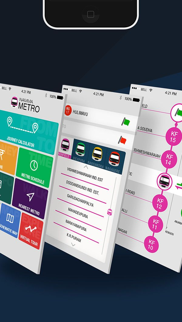 Namma Metro-Concept based App on Behance