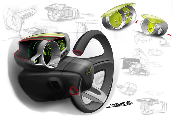 Chevrolet Spark Interior Design Sketch