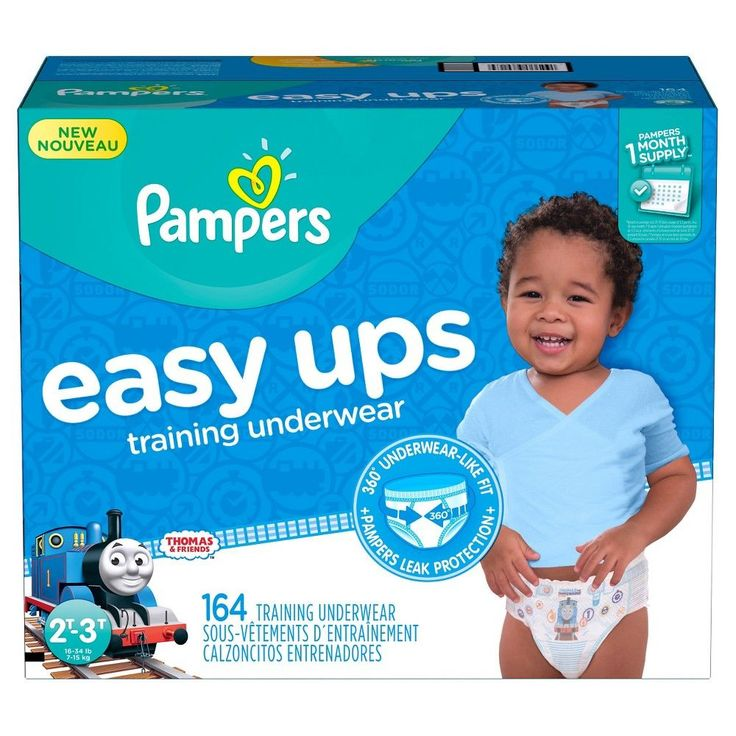Pampers Easy Ups Boys Training Pants One-Month Supply (Assorted Sizes)