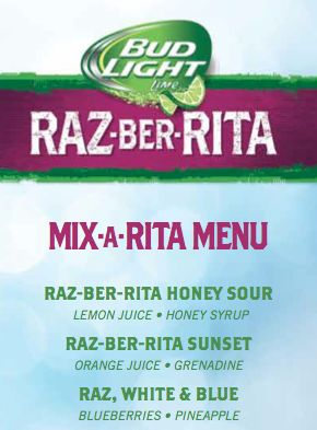 Game Day cocktail recipes with bud light's razberita #donatellaStyle #kingshawaiian
