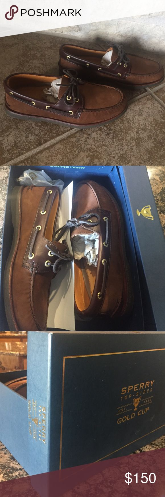 Sperry Gold Cup FLASH SALE!!! Sperry Top-Sider Gold Cup. Brand new and never been worn. Comes in original box Sperry Top-Sider Shoes Boat Shoes