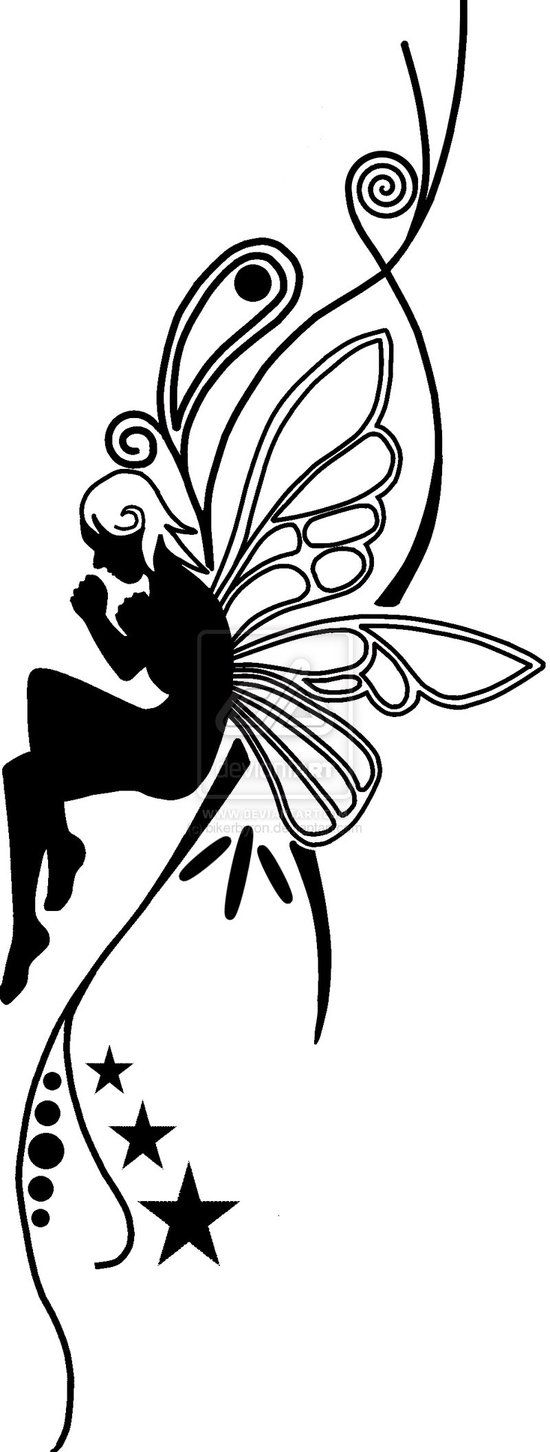 fairy graphic outline coloring pages | fairy outline | Art - Silhouettes | Pinterest | Wings ...